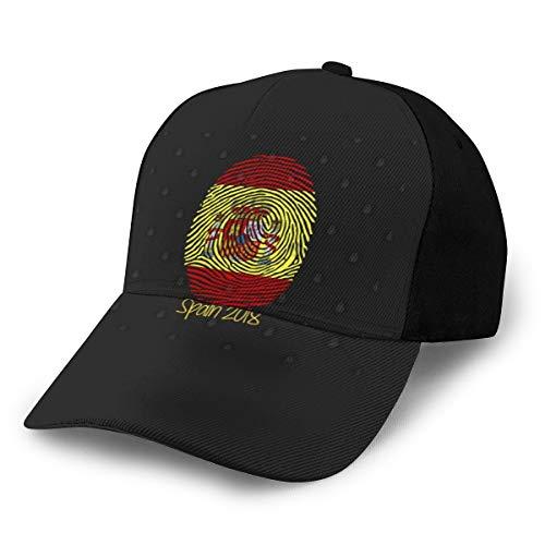 N/ España Mundial 2018 Gorra Gorra de béisbol, ajustable, color negro