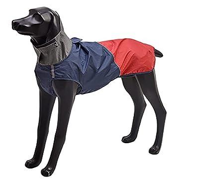 Geyecete Dog Raincoat Dog Jackets, Pet Outdoor Clothing Dog Waterproof Coat,Pet Lightweight Rain Jacket Dog Rain Poncho With Reflective Strip-Red/Blue-M
