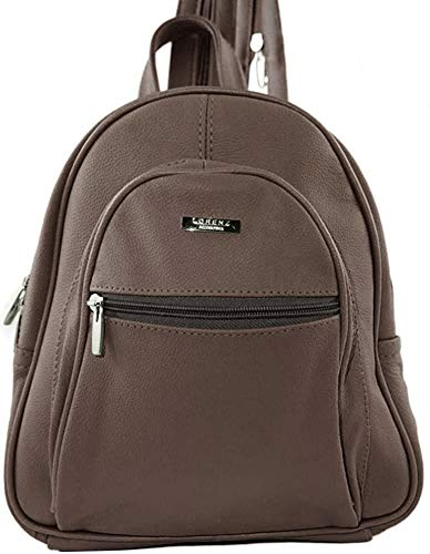 Lambland Womens / Ladies Genuine Leather Backpack with Zipped Straps