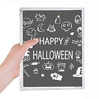 ハッピーハロウィン幽霊の恐れ 硬質プラスチックルーズリーフノートノート