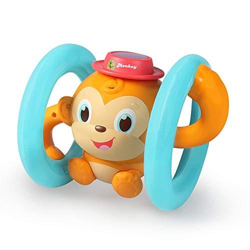 Lihgfw Taumeln AFFE Baby Baby Spielzeug 1-2 Jahre alte Klang und bewegende Jungen und Mädchen Leuchtende Kinder Elektrische Spielzeug (Größe : Battery Version)