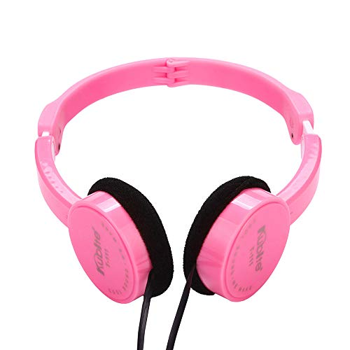 Marxways Kids Wire Headphones On Ear Faltbares Stereo-Headset für Kinder Kopfhörer für iOS Android Smartphone Laptop Tablet PC Computer (Rosa)