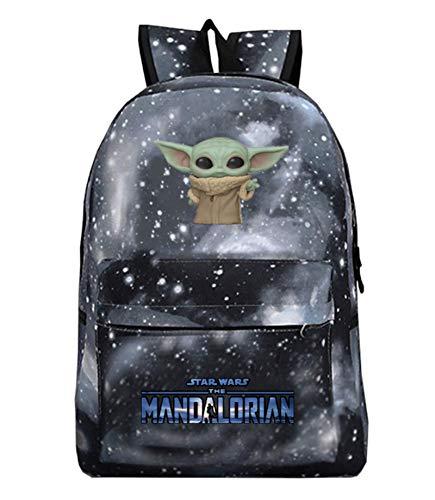 Gloostike YODA Rucksack, Yoda Mandalorian Studentenrucksack, Schultasche, Laptop Rucksack für Jungen und Mädchen, Freizeit Rucksack (Stil(2))