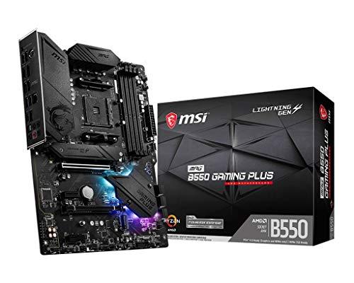 MSI MPG B550 Gaming Plus AMD AM4 DDR4 M.2 USB 3.2 Gen 2 HDMI ATX Gaming Motherboard, 7C56-003R