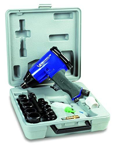 MICHELIN - Avvitatore pneumatico a percussione 1/2-10 prese - Bottiglia d'olio - Consumo d'aria : 220 l/min - Pressione massima : 6 bar, nero