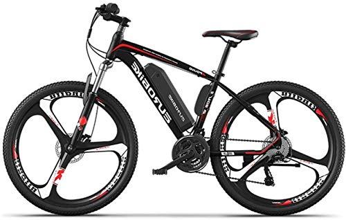 Bicicleta, bicicleta de la ciudad eléctrica para hombres, removible 36V 10AH / 14AH Paquete de baterías de iones de litio integrado, asistencia de cambio de 27 niveles, rango de conducción de 110-130