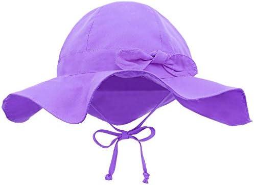 Siero Baby Bucket Hat with UPF 50 Adjustable Kids Cap Light Purple 0 12 Months product image