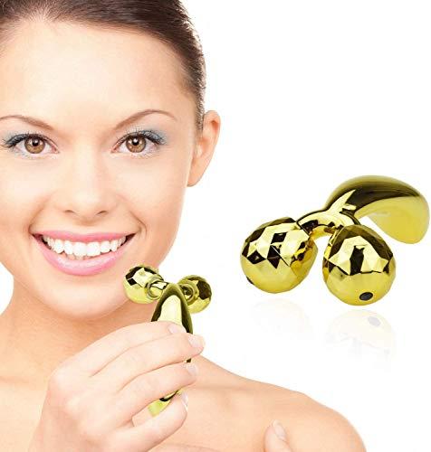 TBPHP 3D Mini Gesichtsmassageroller,doppelkinn massagegerät,gesichtsmassagegerät für Anti Cellulite Massage Gerät,gegen doppelkinn,gesicht massage,face roller,Dehnungsstreifen entfernen