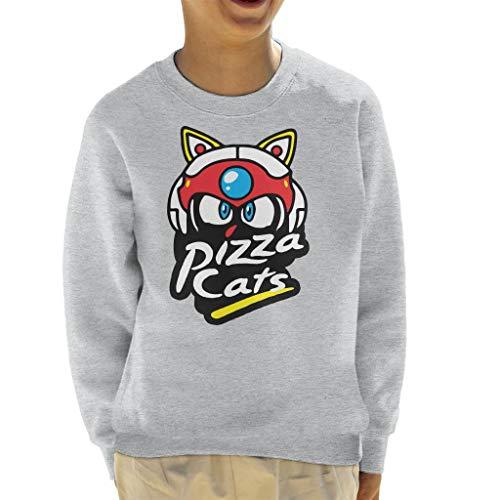 Cloud City 7 Samurai Pizza Cats Pizza Hut Logo Kid's Sweatshirt