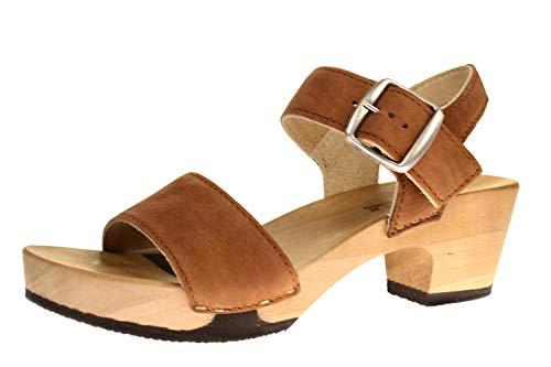 Softclox S3380 KEA Nature Nappa - Damen Schuhe Sandaletten - 27-Cognac, Größe:41 EU