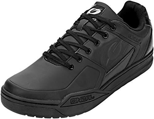 O\'NEAL | Mountainbike-Schuhe | MTB Downhill Freeride | Vegan | SPD-Pedalplatten-kompatibel, Oberseite: haltbares und leichtes PU, atmungsaktiv | Pinned SPD Shoe | Erwachsene | Schwarz | Größe 43