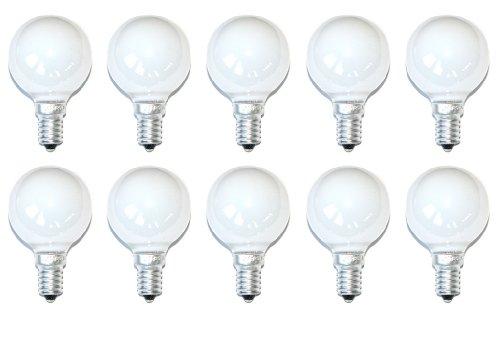 NCC-Licht - 10 Lampadine a incandescenza a goccia 60W E14, colore: Bianco opale opaco