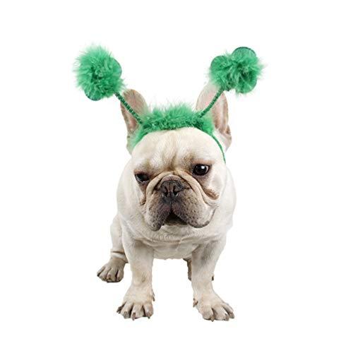 Amosfun St Patricks Dag Hoofdband Honden Hoofddeksels Huisdier Kostuum Accessoire voor Hond Kat Huisdier St Patricks Dag Accessoires (Groen)