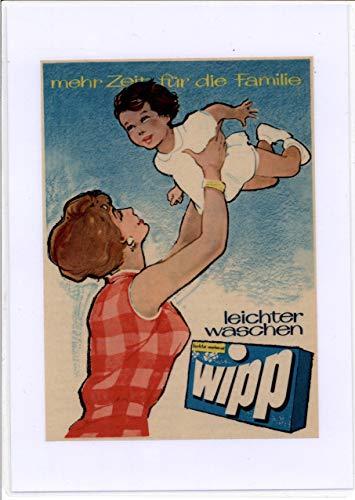 Wipp Waschmittel - Werbung - 1960er - 21x 15cm (A5)