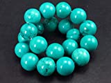 Genuine Turquoise Bracelet From Sleeping Beauty Arizona - 7' - 10mm Round Beads