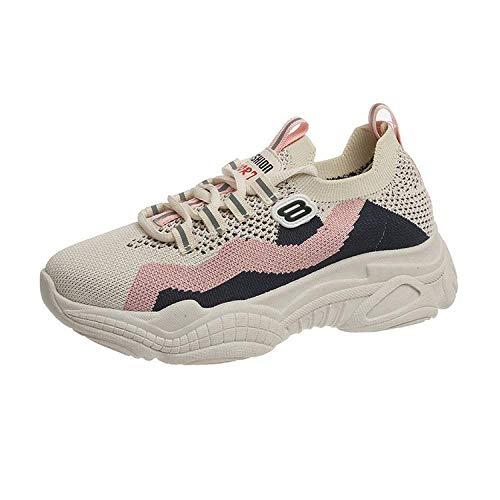 SIKETU Dames Sportschoenen mesh Ademend Dikke onderkant Comfortabel Hardlopen Mode Trend