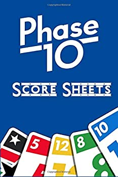 Phase 10 Score Sheets  Phase Ten Game Record Keeper Book,Phase 10 Score Pad,Phase Ten Dice Game  6 x 9 inches