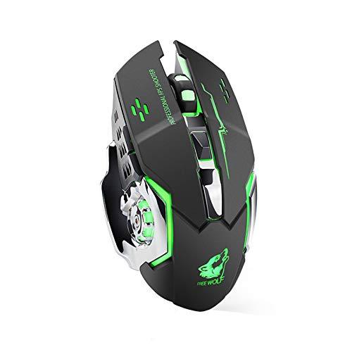 GYY Recargable X8 Wireless Silent LED Retroceso USB Ergonómico Ergonómico Mouse PC Ratón De La Computadora para iMac Pro MacBook/Laptop (Color : A)