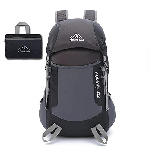 AMYMGLL Back -King Back -King Escursionismo Campeggio Pieghevole Borsa Zaino,Black-47 * 21 * 28cm-36-55L