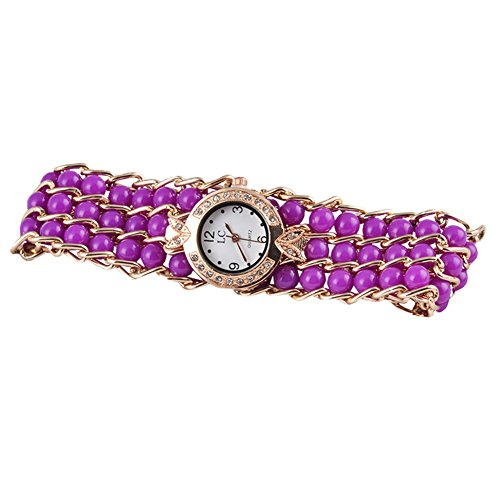 SJXIN Schöne und stilvolle Armbanduhr, Womage Sternengürtel Uhr Quarz Damenuhr Modeuhren (Color : 3)