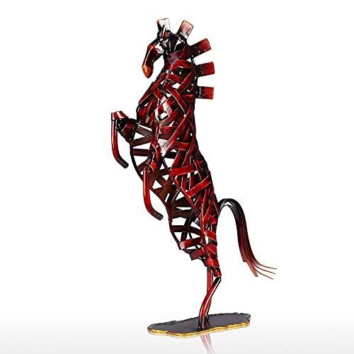 Barra de hierro para tejer caballo encabritado, animal, escultura de metal, estatua, adorno artesanal, utilizado para el hogar, sala de estar, oficina, mesa de centro, ventana, decoración, reg