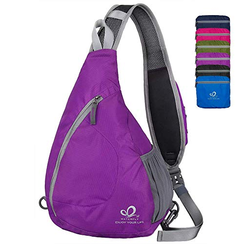 Waterfly Sling Chest Backpacks Bags Crossbody Shoulder Triangle Packs Daypacks for Hiking