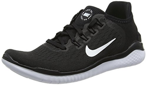 Nike Women's Free RN 2018 Running Shoe (6.5, Black/White)