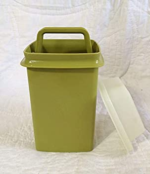 Tupperware Small Square Pick a Deli Pickle or Olive Keeper Container Green