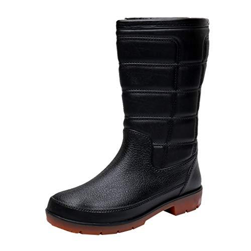 Plot Unisex Regenstiefel Gummistiefel Damen Herren Mittlere Stiefel Kurzschaft Stiefel Stiefeletten Gefüttert Outdoor Wasserdicht Chelsea Rain Boot Küche Fischer Schuhe Regenschuhe