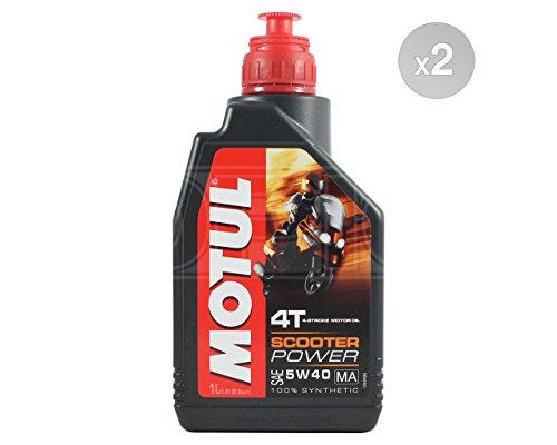 Motul Scooter Power 4T 5W-40 Aceite de motor totalmente sintético – 2 x 1 l