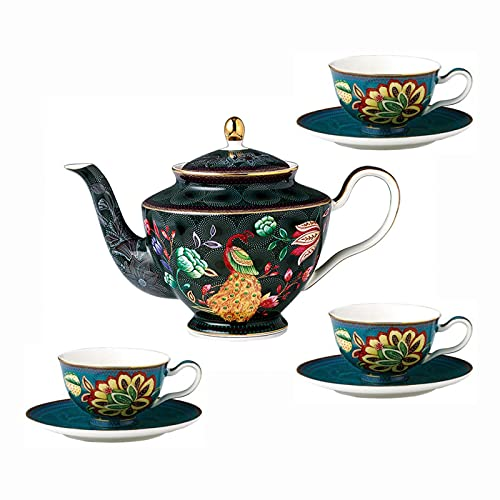 Tea Set With Teapot Tea Set For Adults Coffee Cups And Saucers Vintage Coffee Cup Set For Afternoon Tea Wedding Tea Service B