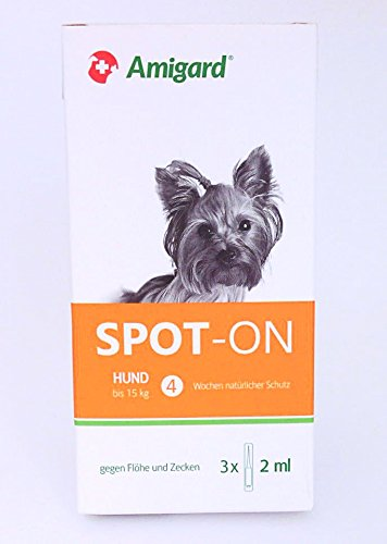 Amigard Spot-On Hund bis 15 kg 3X 2 ml