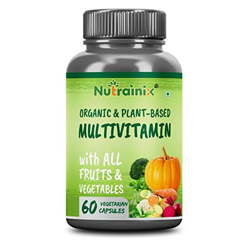 Nutrainix Certified Organic Multivitamin with all Fruits & Vegetables for Men & Women - 60 Vegetarian Capsules