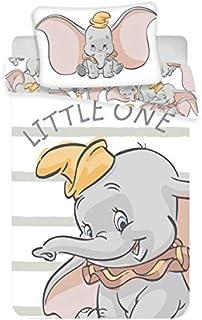 Juego de ropa de cama para bebés Dumbo, 2 piezas 100% algodón, tamaño: 100x 135cm, 40x 60cm, certificado Öko Tex Stand...