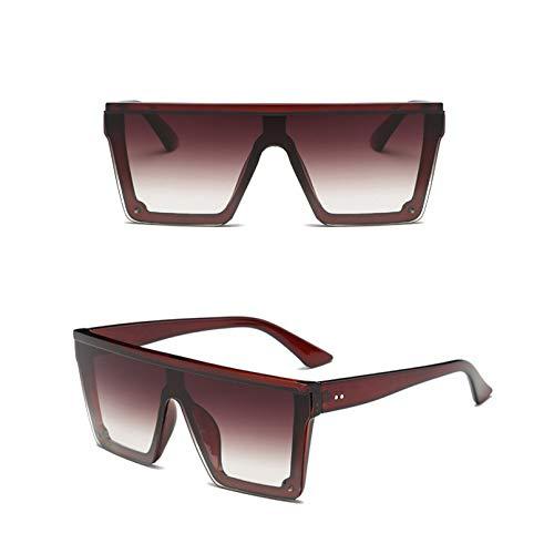 SXRAI Gafas de Sol de Gran tamaño Hombres Gafas de Sol Gafas de Sol con Montura de Mujer Uv400,C2