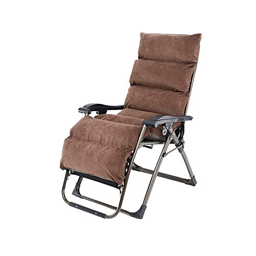 Bseack Chaises Longues, Ajustement Semi-Automatique Peut s'asseoir, Peut s'allonger Pliant Chaise Longue Design Ergonomique pour Balcon Jardin (Couleur : Marron)