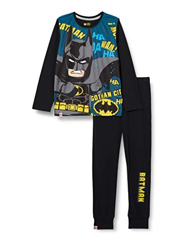 LEGO Jungen MW-Schlafanzug Batman Pyjamaset, 995 Black, 116