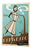 Bestauseller Tin Sign XXL Coffee Cafe Bar Espresso Coffee Maker Italian Women Cartoon