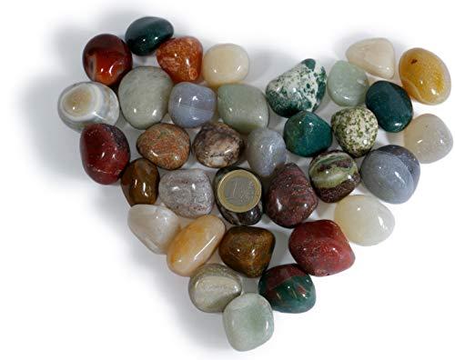 900gr. Trommelsteine,Heilsteine,Dekosteine,Steine,Halbedelsteine 30- 50 mm aus Brasilien