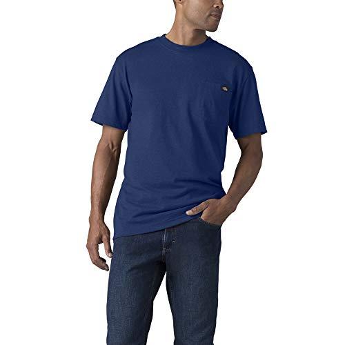 Dickies Men's Short Sleeve Heavyweight Crew Neck Pocket T-Shirt, Limoges Single Dye Heather, Small