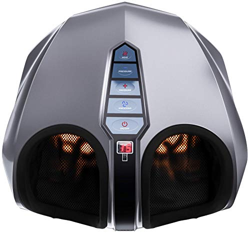 Miko Shiatsu Foot Massager With Deep-Kneading, Multi-Level Settings, And Switchable Heat Charcoal...