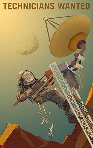 NASA POSTER SPACE EXPLORATION JOB ADVERT TECHNICIANS 24 x 38.4 '' LARGE LLF0863