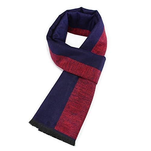 SPARKX Otoño E Invierno Clásico Estilo Europeo Y Americano Damas De Hombre Jacquard Geométrico Bufandas De Algodón,Red Blue b,180 * 30CM