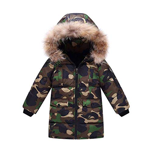 CHIYEEE Jungen Winter Daunenjacke Mantel Kind Hooded Oberbekleidung Camo