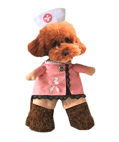XIAOYU Puppy Dog Cat Nurse Costume Halloween Cosplay Party Outfit Suit Costume for Small Dogs and Cat, XL