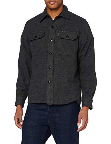 Photo of Schott NYC Men's Shcarl3 Shirt, Anthracite, Xx-Large