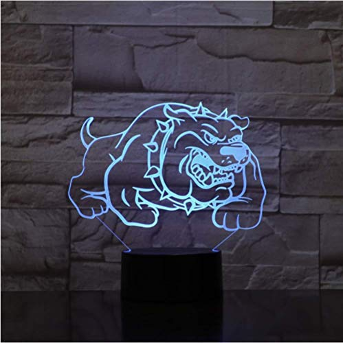 Illusion LED Nachtlicht American Bully Pitbull Hundespielzeug 3D Nachtlampe mit Touch/Control Light Weihnachtsgeschenke Kinder Hobbys