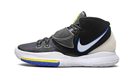 Nike Kyrie 6, Sneaker Hombre, Negro/Blanco-Soar-Dynamic Yellow, 44 EU