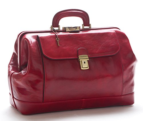 D&D - Doctor's Bag Borsa medico Classica - Made in Italy (Rosso)