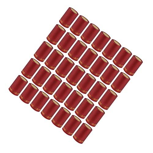 Tomaibaby 200 Unidades de Cápsulas Termorretráctiles de PVC 33Mm para Envolver Botellas de Vino Cápsulas para Envolver Botellas de Vino para Bodega de Vino Y Rojo para Uso Doméstico